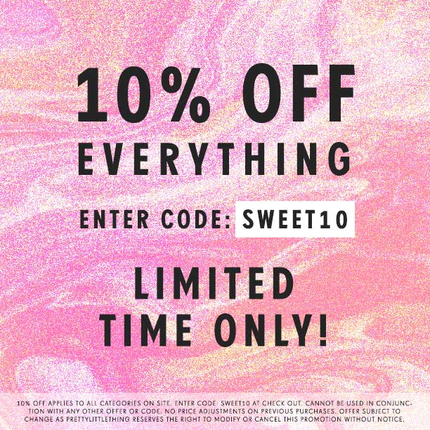 Pretty little thing coupon code