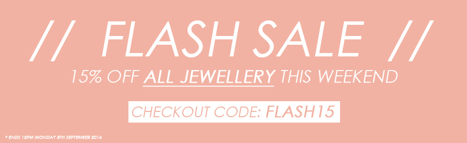 15% off all jewellery at Gemondo this weekend