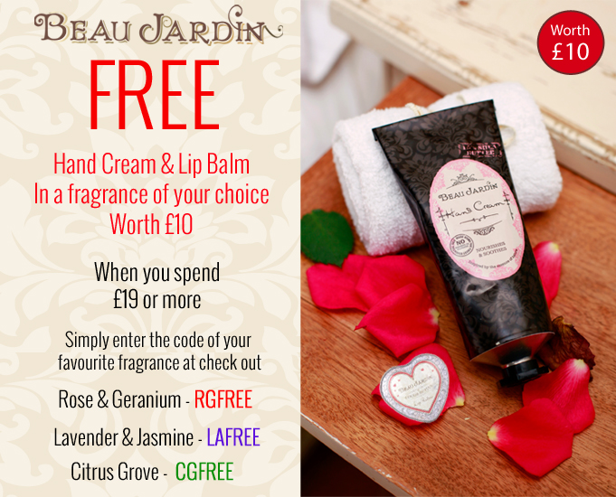 The Hub » FREE Beau Jardin Hand Cream & Lip Balm from Heathcote & Ivory