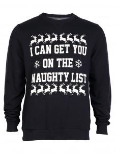 Merry Xmas Naughty Sweatshirt Navy