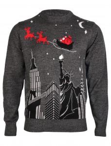 Merry Xmas Santa Claus grey jumper