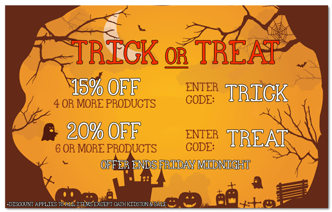 Trick Or Treat 15% Off or 20%