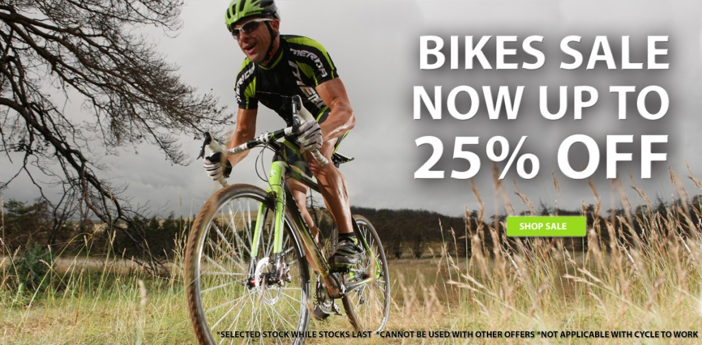 25% OFF Bikes from Podium 4 Sport