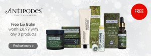 Antipodes free lipbalm offer
