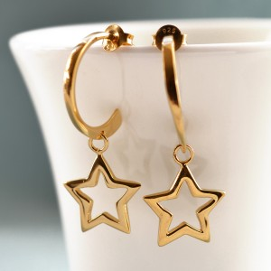 HEGSOP Gold Open Star Hoop Earrings 900X900 2