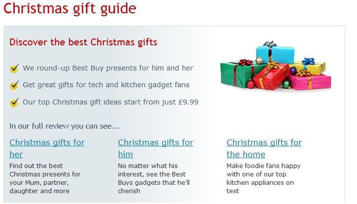 christmas gift guide text