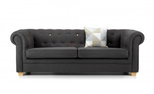 Chester 3 Seater Sofa Charcoal