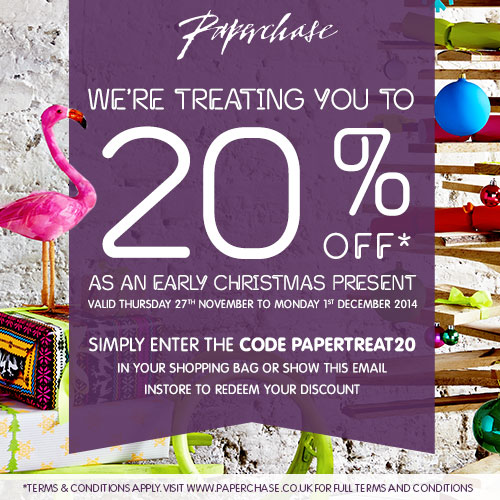 Paperchase 20% Off