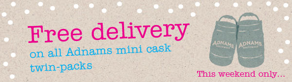 Free delivery Adnams Mini Casks