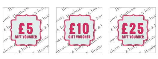 Heathcote & Ivory Gift Vouchers Now Available - feature