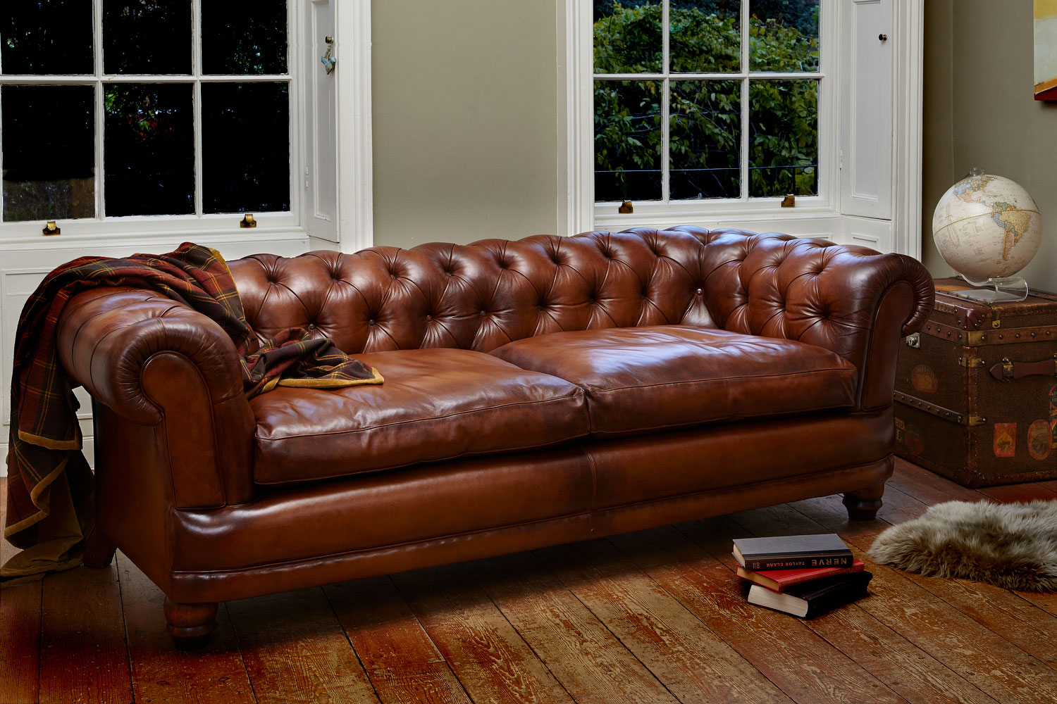 Small Leather Chesterfield Sofa Thesofa