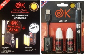 OK Cigs Disposable Ecig and Vaping Kit