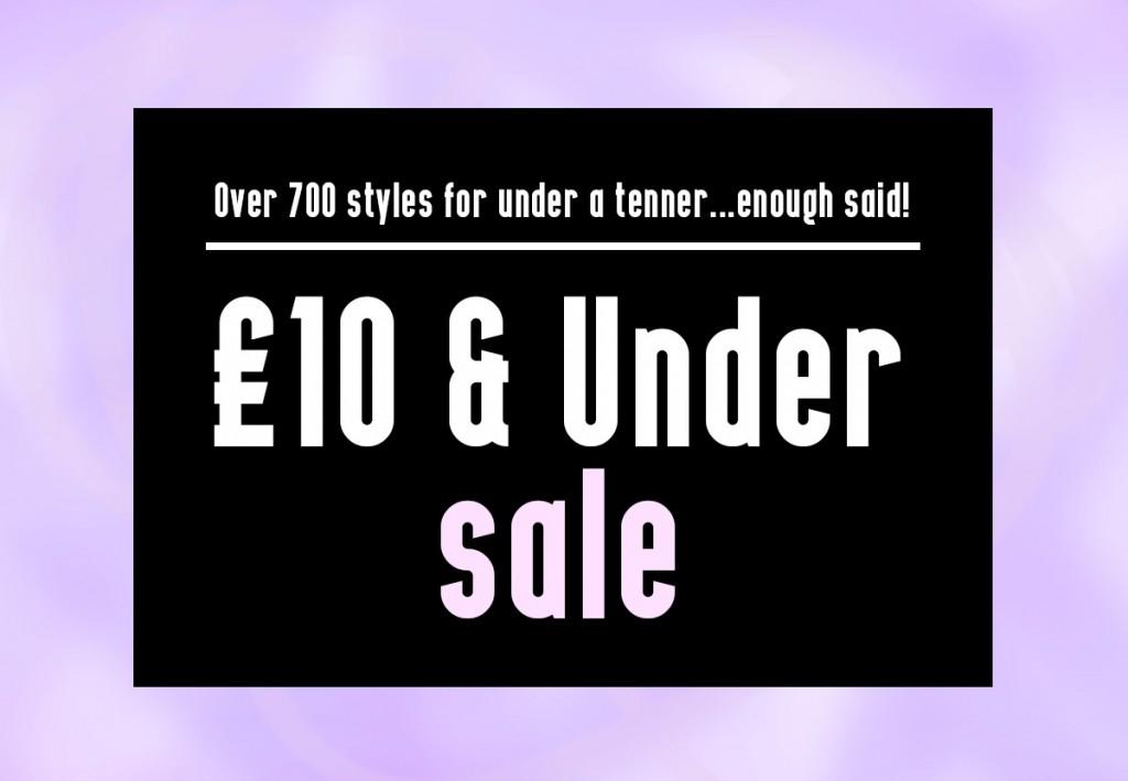 £10 under sale