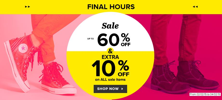 Final reductions shoe sale
