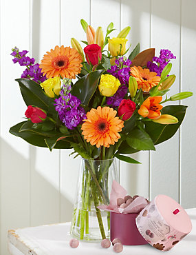 Mother's Day Bright's Bouquet with Free Chocolates - LIMITED TIME ONLY