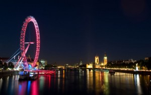 London Eye at night
