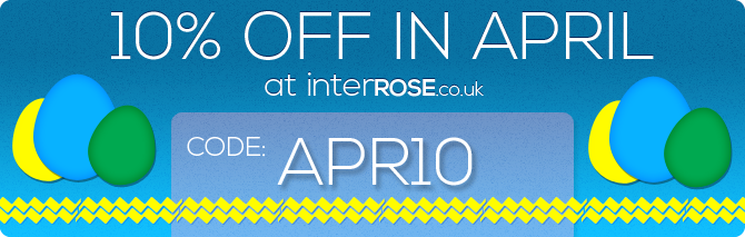 10% OFF at interROSE.co.uk in April