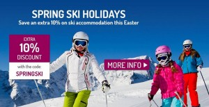 Save an extra 10% on Ski accommodation this Easter,