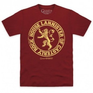 Official Game of Thrones - House Lannister Organic T Shirt