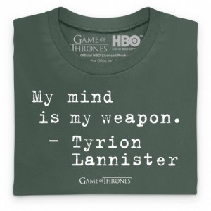 Official Game of Thrones - My Mind Quote Organic Organic T Shirt