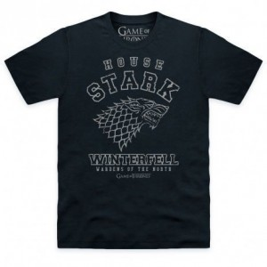 Official Game of Thrones - Stark Collegiate Organic T Shirt
