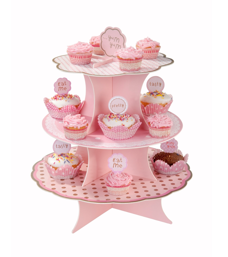 Pink & Mix Cakestand Small