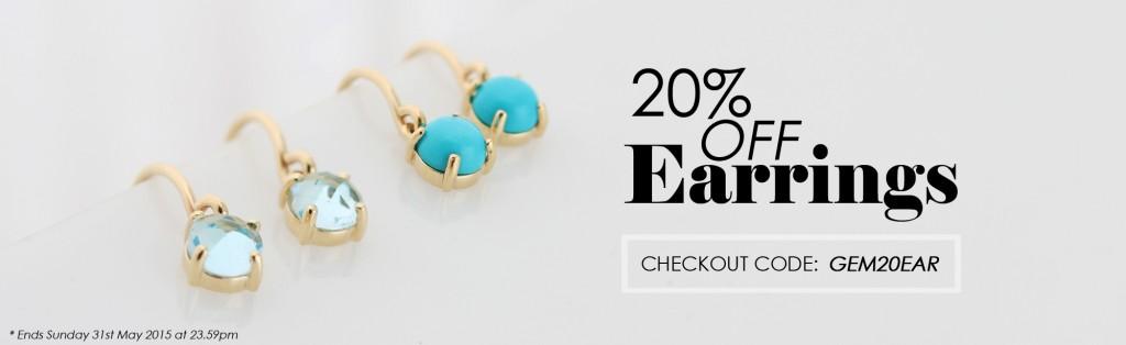 Save on earrings at Gemondo