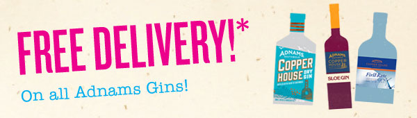Free delivery on Adnams gin