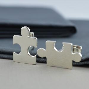 Jigsaw Puzzle Cufflinks Silver CCSJZ (4)