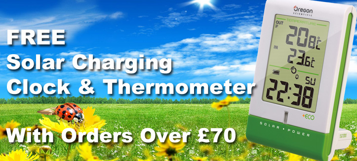 FREE Clock & Thermometer Worth £39.99 With Orders Over £70