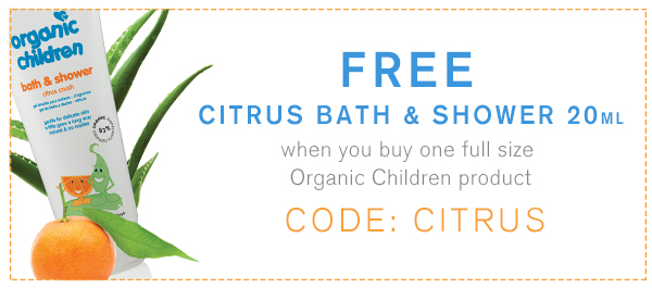 Free Citrus Bath Shower | Green People