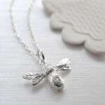 Lily Charmed Silver Bee and Diamond Necklace