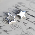 Lily Charmed Silver Star Earrings