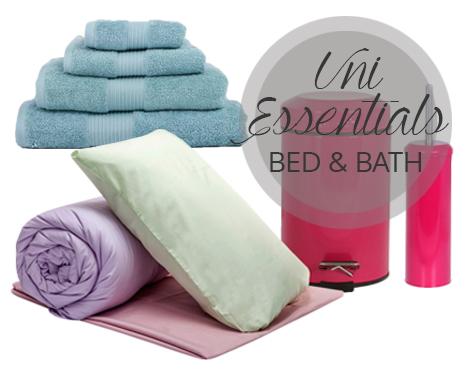 Uni Essentials: Bed & Bath UP TO 64% OFF