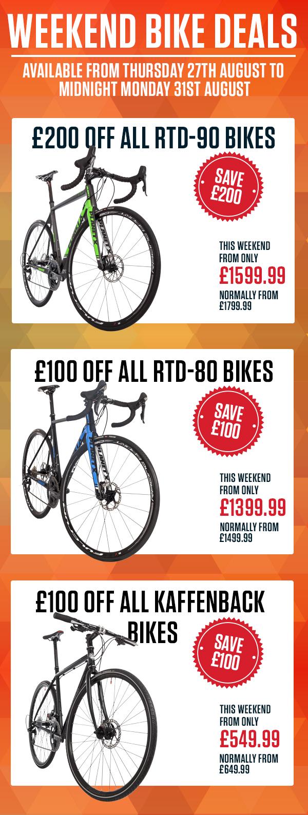 Weekend bike deal 28.8.15