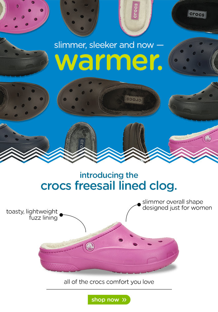 150930 Freesail Lined Collection Crocs