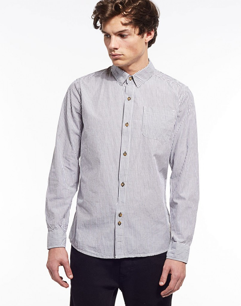 Bellfield Long Sleeved Stripe Shirt