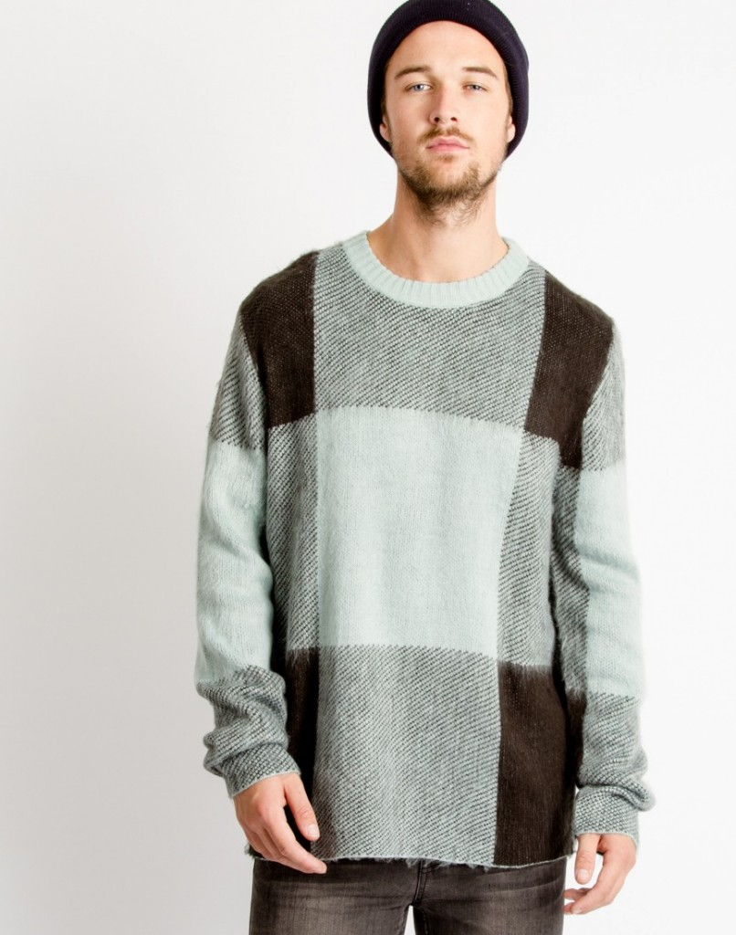 cheap monday jumper green mist check