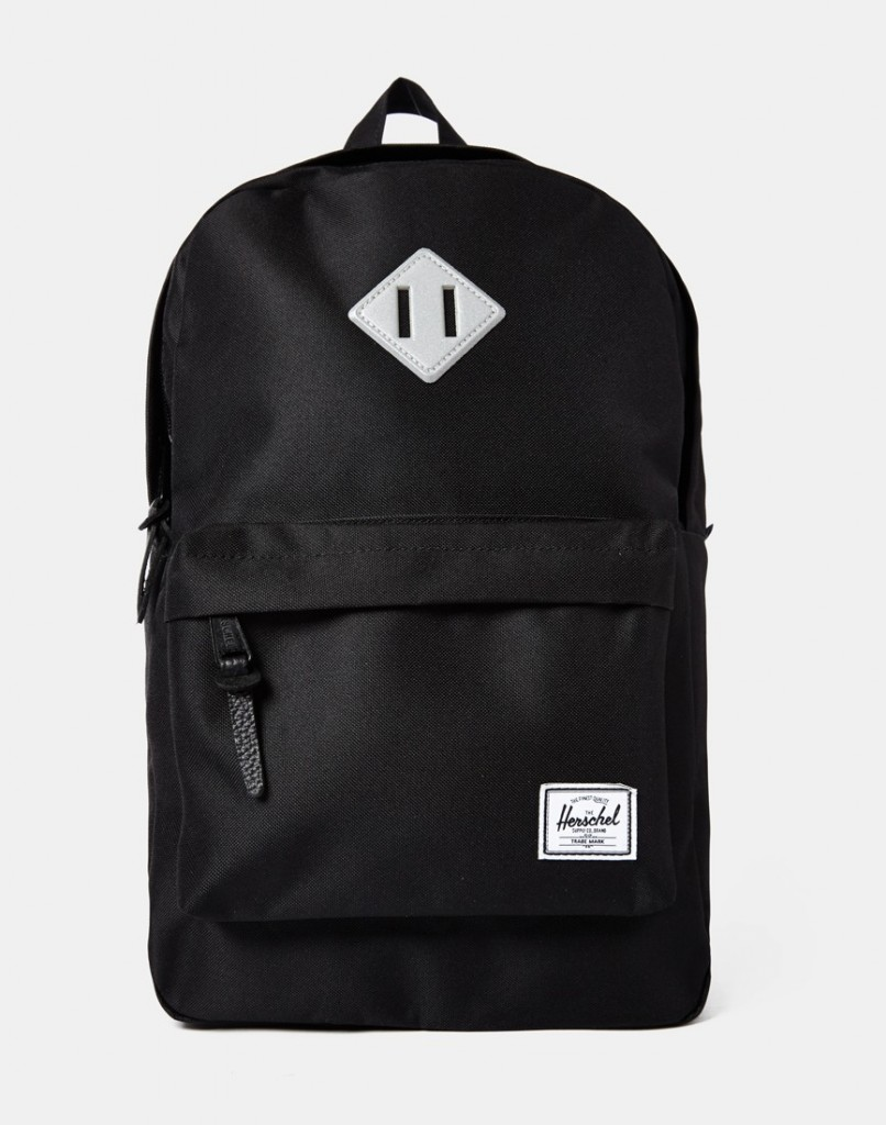 herschel x The Idle Man Exclusive Heritage Mid-Volume Backpack Black