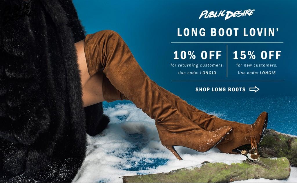 Public Desire Long Boots Discount