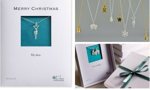 Christmas montage with packaging