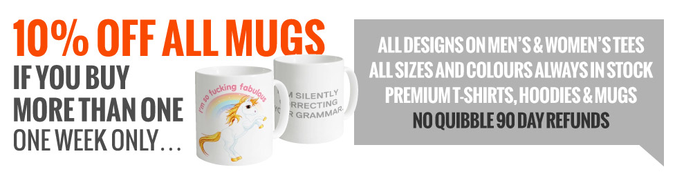 Mug Promotion: Buy more than one mug, get 10% off all mugs!