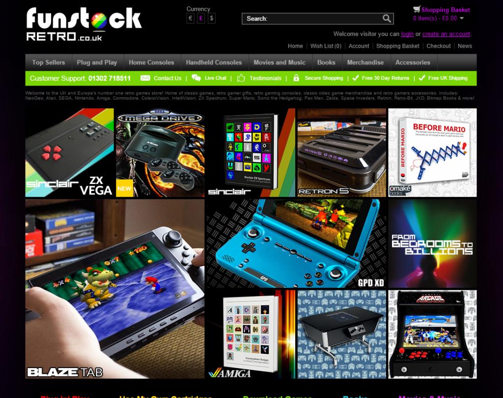 funstock retro homepage