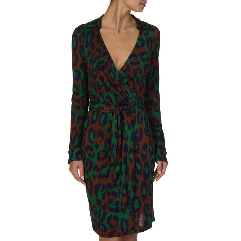 DIANE VON FURSTENBERG GREEN SAVANNAH DRESS