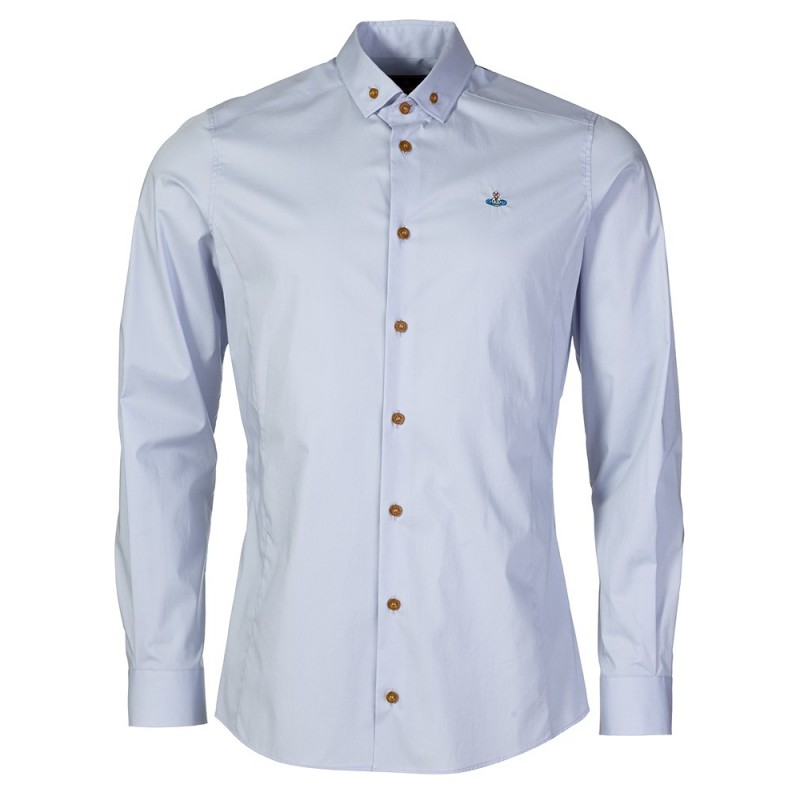 VIVIENNE WESTWOOD SKY BLUE BUTTON DOWN SHIRT