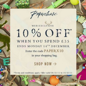 Paperchase 10% off £35