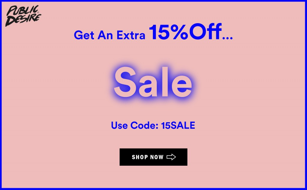 15% Off Sale at Public Desire