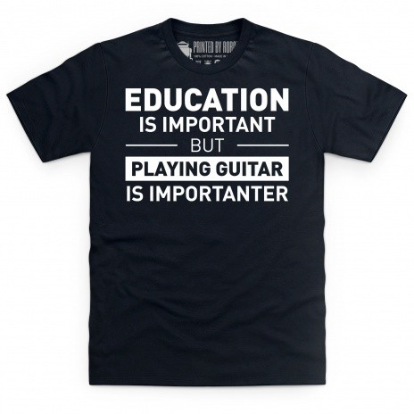 Playing Guitar T Shirt