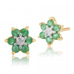 Gemondo emerald flower earrings