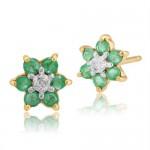 Gemondo emerald flower earrings